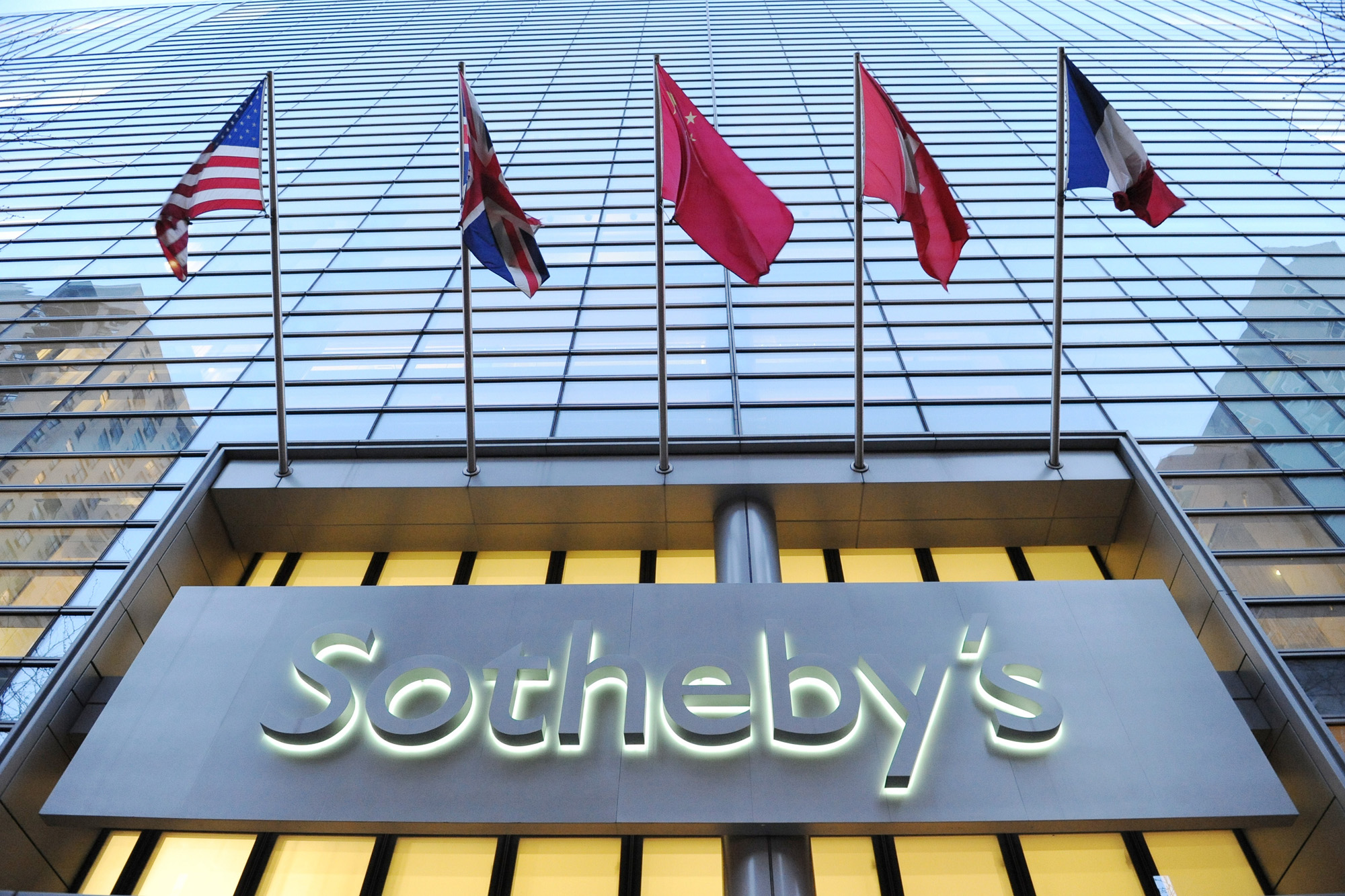 The exterior of the Sotheby's auction house in New York, NY as seen on May 1, 2013. (Photo/Christopher Sadowski)